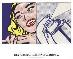 Girl and Spray Can by Roy Lichtenstein