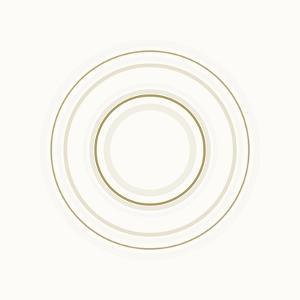 Neutral Circles On White by Ruth Palmer
