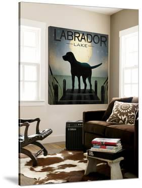 Moonrise Black Dog - Labrador Lake by Ryan Fowler