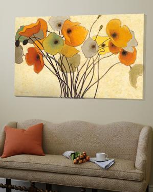 Pumpkin poppies I by Shirley Novak