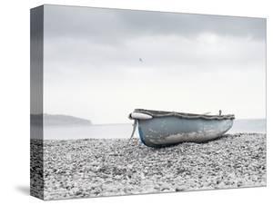 Boat at Beach in Devon by Simon Plant