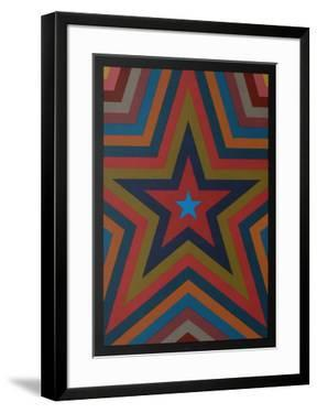 Five Pointed Star with Color Bands by Sol Lewitt