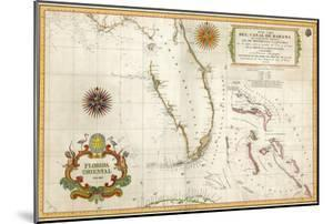 Spanish Map of Florida and the Bahamas, 1805