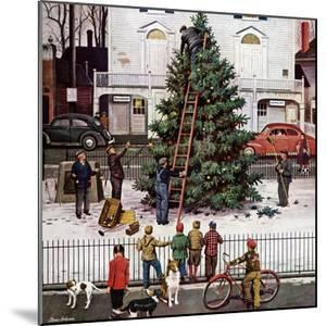 """Tree in Town Square,"" December 4, 1948 by Stevan Dohanos"