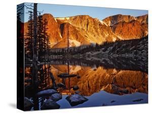 Snowy Range Reflected in Mirror Lake by Steve Terrill