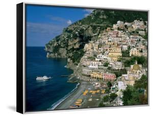 Amalfi Coast, Coastal View and Village, Positano, Campania, Italy by Steve Vidler