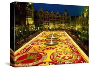 Grand Place, Floral Carpet, Brussels, Belgium by Steve Vidler