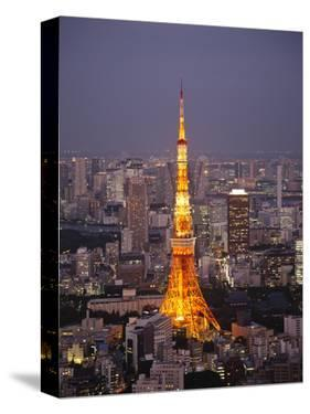 Japan, Tokyo, Roppongi, View of Tokyo Tower and City Skyline from Tokyo City View Tower by Steve Vidler