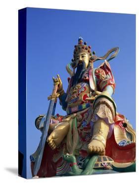 Taiwan, Kaohsiung, Lotus Lake, Statue of Taoist God Xuan-Tian-Shang-Di by Steve Vidler