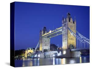 Tower Bridge and Thames River, London, England by Steve Vidler