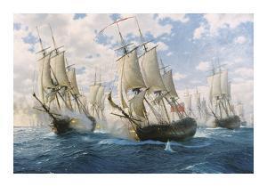 Battle of Chesapeake, 5th September 1781 by Steven Dews