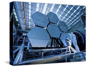 A James Webb Space Telescope Array Being Tested in the X-Ray and Cryogenic Facility by Stocktrek Images