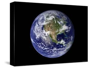 Full Earth Showing North America by Stocktrek Images