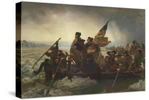 Painting of George Washington Crossing the Delaware by Stocktrek Images