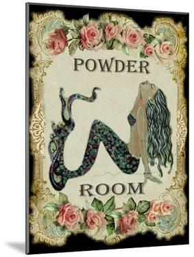 Powder Room Mermaid with Vintage Roses by sylvia pimental