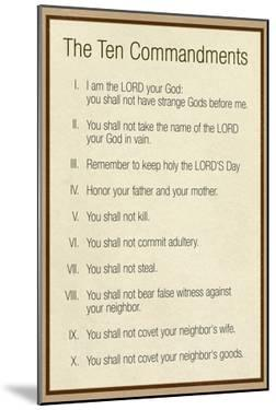 The Ten Commandments - Catholic
