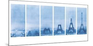 Construction of the Eiffel Tower - Blueprint by The Vintage Collection