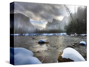Merced River, El Capitan in Background, Yosemite, California, USA by Tom Norring