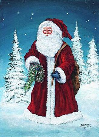 Santa with Garland