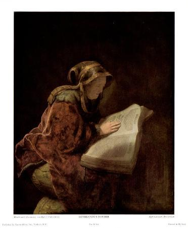Rembrandt's Mother as Biblical Prophetess Hannah, 1631