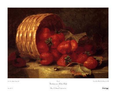 Strawberries in a Wicker Basket
