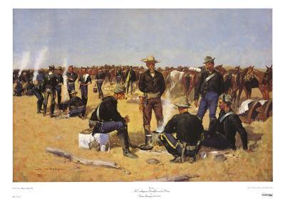 Cavalryman's Breakfast on the Plains