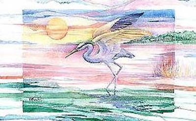 Blue Heron Twilight