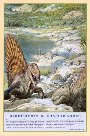 Dimetrodon and Edaphosaurus Dinosaurs