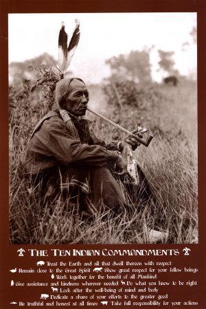 Ten Indian Commandments