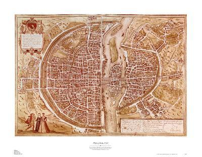 Map of Paris 1585