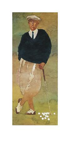 Vintage Male Golfer