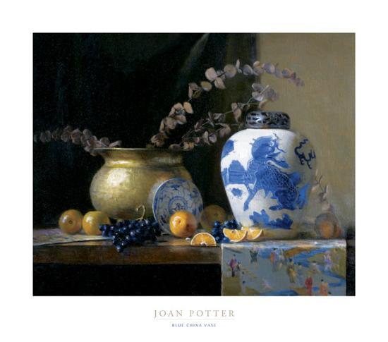 blue decorative vases.htm blue china vase  posters joan potter allposters com  blue china vase  posters joan potter
