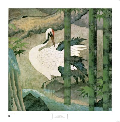 Crane and Bamboo
