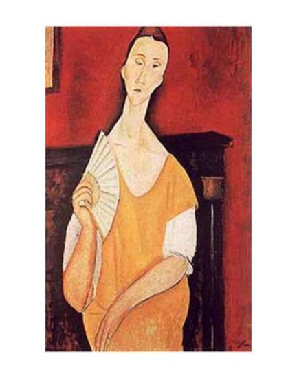 Woman With Fan Print By Amedeo Modigliani At Allposters Com