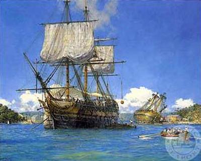 HMS Trusty in English Harbor