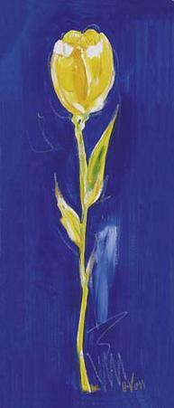 Yellow Tulip on Blue