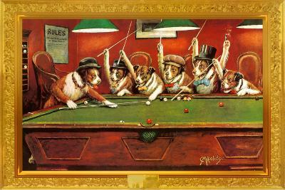 Coolidge Dogs Playing Pool