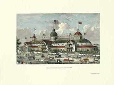 Chicago. Convention Hall 1886