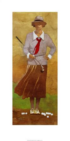 Vintage Woman Golfer
