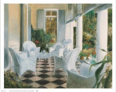 White Summer Terrace