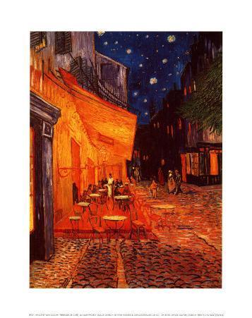 Terrasse de Café, la Nuit