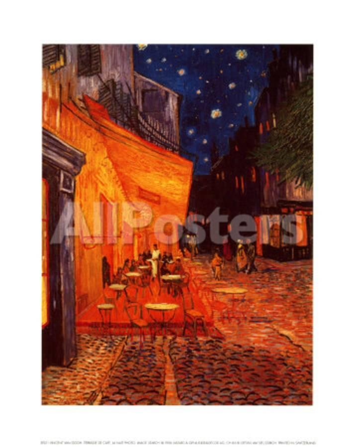 Terrasse De Cafe La Nuit Prints By Vincent Van Gogh At Allposters Com