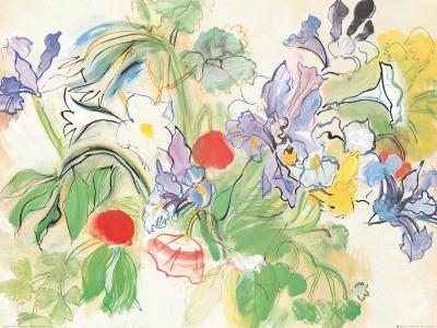 Poppies and Iris