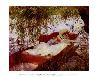Two Women Asleep in a Punt
