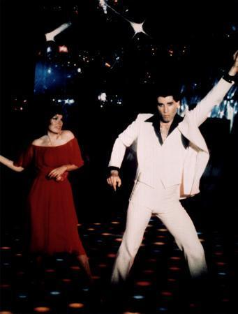 John Travolta & Karen Lynn Gorney in 'Saturday Night Fever'