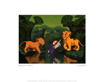 Simba, Zazu and Nala