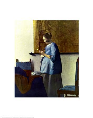 Woman in Blue Reading a Letter, c.1662-1664