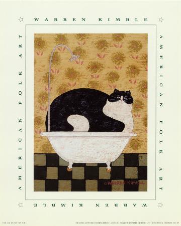Cat in Hot Tin Tub