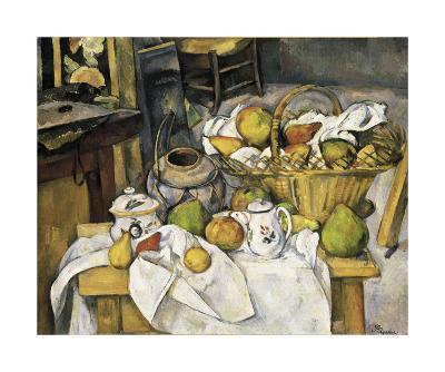 Still Life with Fruit Basket, 1880-1890