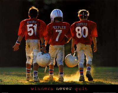 Winners Never Quit - Football